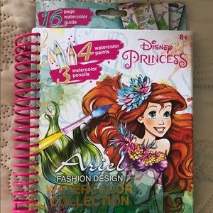 DISNEY ARIEL FASHION DESIGN WATERCOLOR COLLECTION